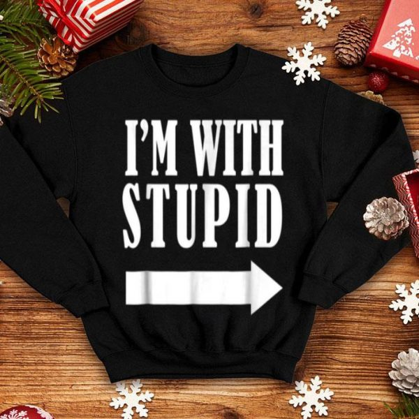 Awesome Funny I'm with Stupid Red funny Christmas Gift sweater