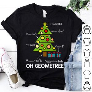 Awesome Funny Math Geometry Christmas Tree Geometree Teacher Gift sweater