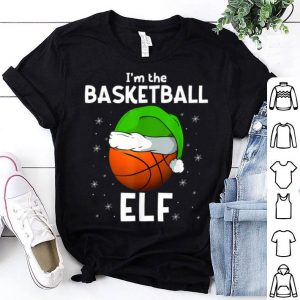Beautiful I'm The Basketball Elf Funny Basketball Player Fan Christmas sweater