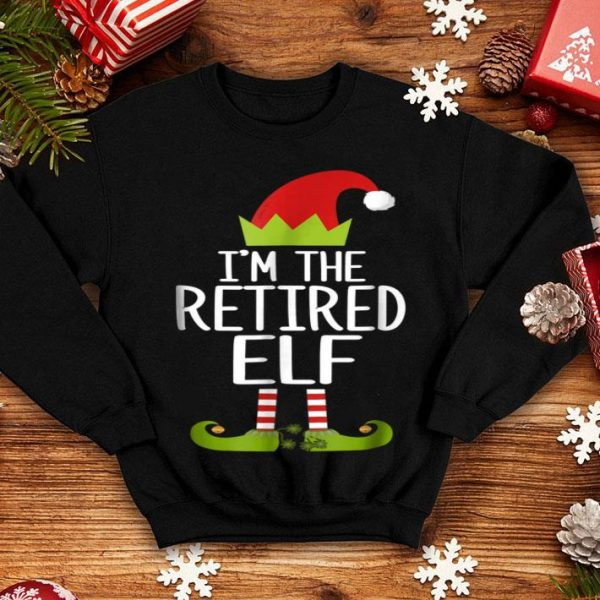 Beautiful I'm The Retired Elf Christmas Family Costume sweater