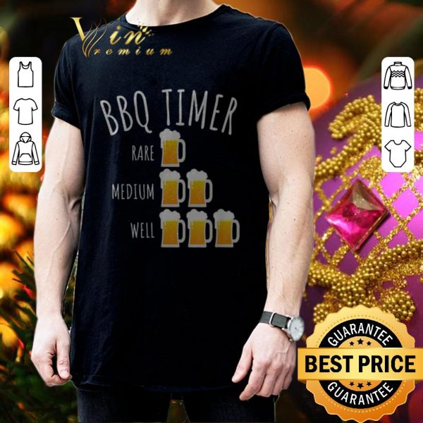 Cheap Bbq Timer Beer Drinking Grilling shirt