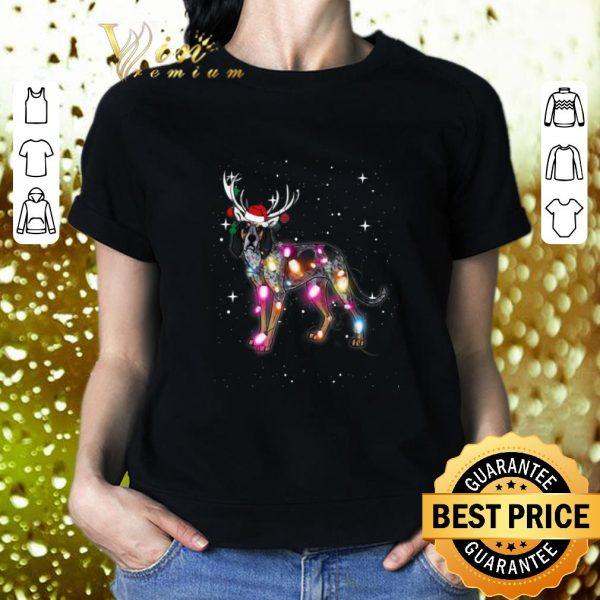 Cheap Coonhound santa reindeer Christmas Lights shirt