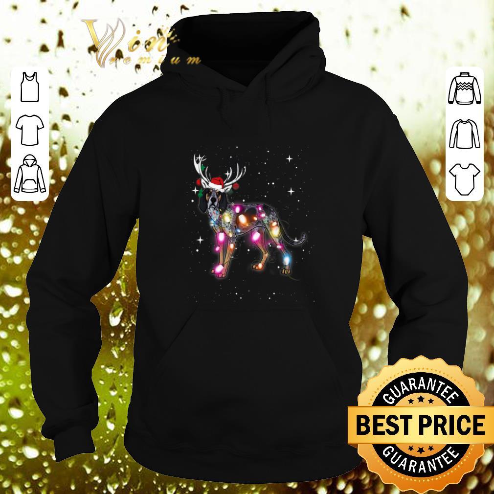 Cheap Coonhound santa reindeer Christmas Lights shirt 4 - Cheap Coonhound santa reindeer Christmas Lights shirt