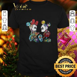 Cheap Mickey and Minnie Mouse with all Disney characters shirt