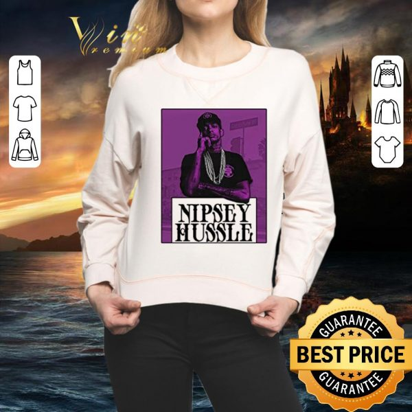 Cheap Rip King rapper Nipsey Hussle TMC Logo Marathon shirt