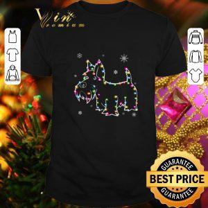 Cheap Scottish Terrier Christmas lights shirt