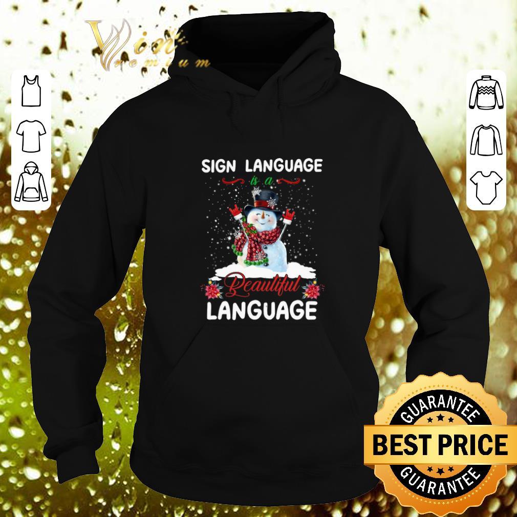 Cheap Snowman sign language beautiful language Christmas shirt 4 - Cheap Snowman sign language beautiful language Christmas shirt