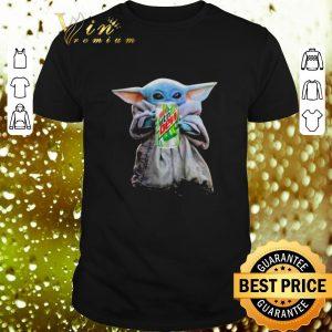 Funny Baby Yoda hug Mountain Dew Star Wars Mandalorian shirt