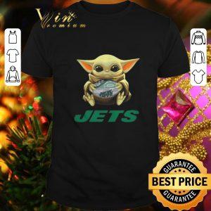Funny Baby Yoda hug New York Jets Star Wars Mandalorian shirt