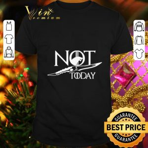 Funny House Stark Wolf Not Today Catspaw Blade Game Of Thrones shirt
