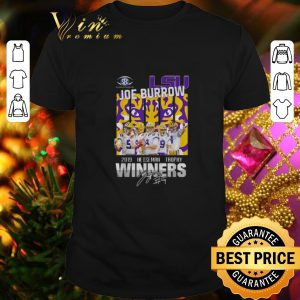 Funny LSU Tigers Joe Burrow 2019 Heisman Trophy Winners Signature shirt