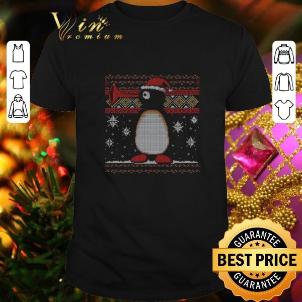 Funny Penguin Pingu noot noot ugly Christmas sweater