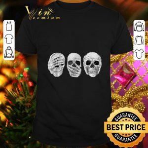 Funny Skull See Speak Hear No Evil Skeleton Halloween shirt