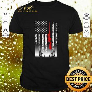 Funny Sniper Deer hunting American flag shirt