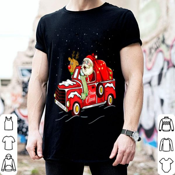 Gram Claus Truck Grandma Christmas Gift Idea sweater