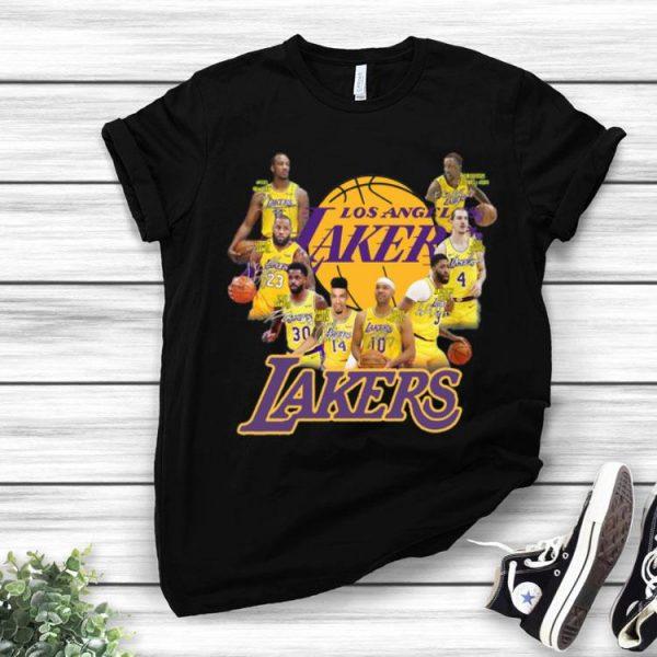 Los Angeles Lakers NBA Players Team Signatures shirt