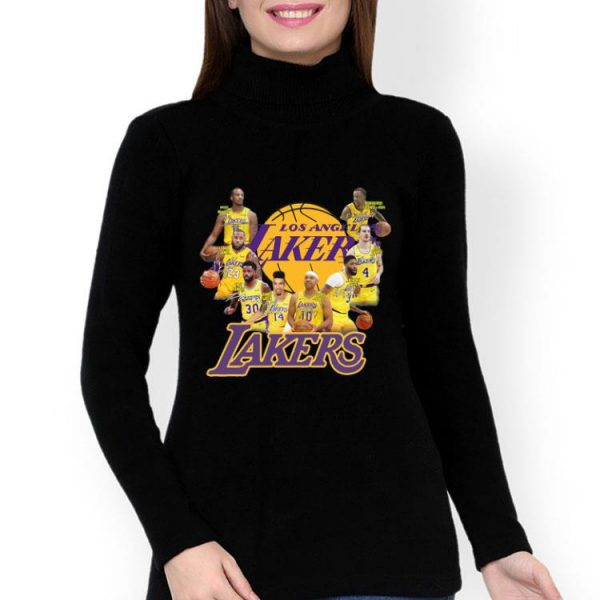 Los Angeles Lakers NBA Players Team Signatures shirt