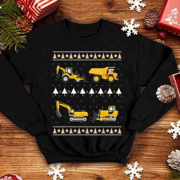 Nice Christmas Boys Kids Toddlers Construction Squad Ugly sweater