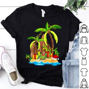 Nice Christmas Palm Tree Tropical Xmas Coconut Lights Gift sweater