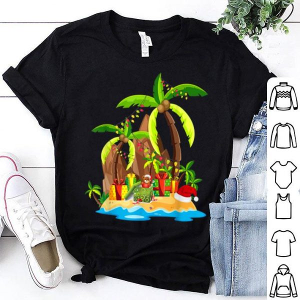 Nice Christmas Palm Tree Tropical Xmas Coconut Lights Gift sweater
