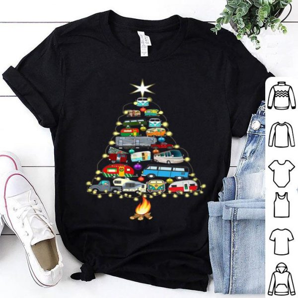 Nice Christmas Tree Camper Vehicles Camping RVing Trailers Gift sweater