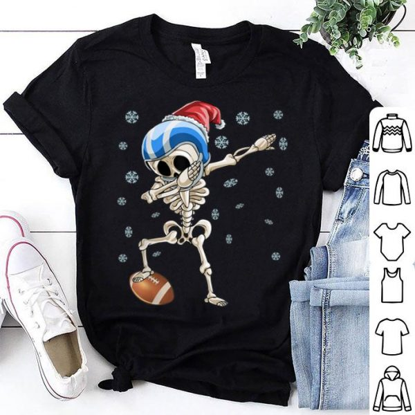 Nice Dabbing Skeleton Football Christmas Santa Hat Gift sweater