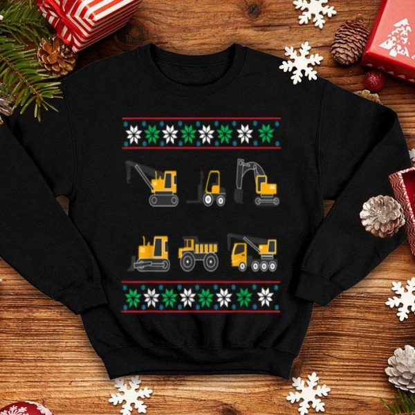 Nice Tractors & Bulldozers Ugly Christmas sweater