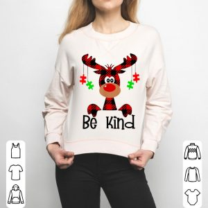 Original Be Kind Autism Awareness Christmas Reindeer Hippie Bullying sweater