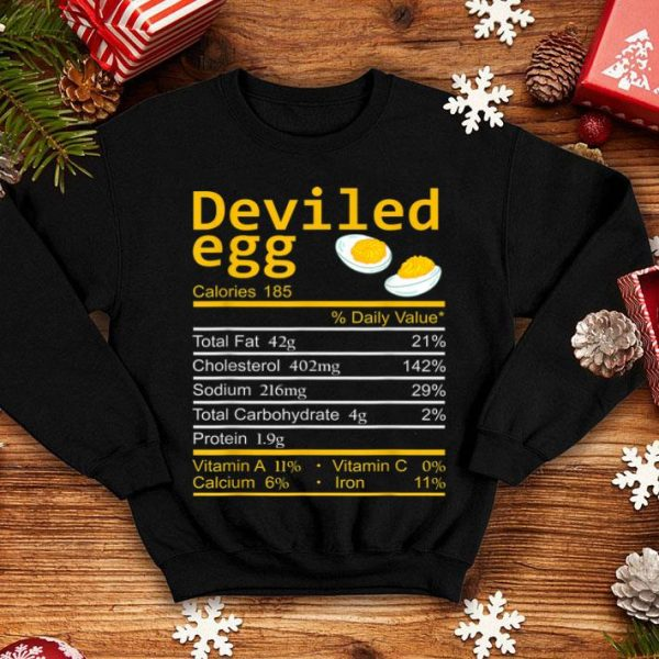 Original Deviled Egg Nutrition Facts Thanksgiving Costume Christmas sweater