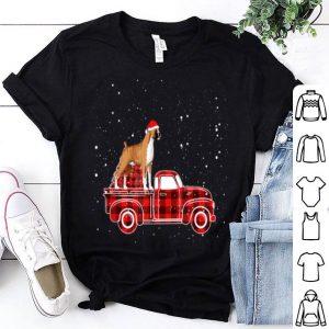 Premium Boxer Buffalo Plaid Truck Xmas Boxer Christmas Pajama Gift sweater