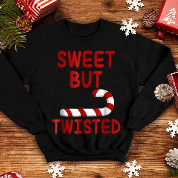 Premium Candy Cane Women Girl Christmas Sweet But Twisted Gift sweater