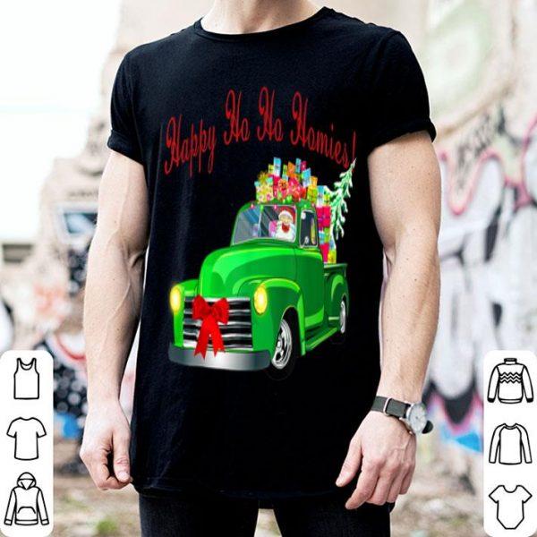 Premium Christmas Santa Vintage Classic Lowrider Slammed Truck sweater