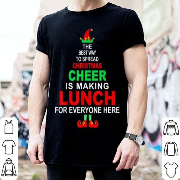 Premium Lunch Lady Christmas Gift - Elf Christmas Cheer sweater