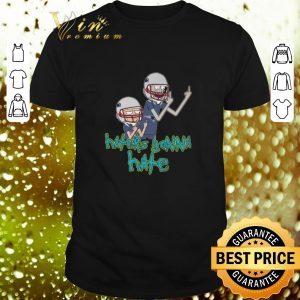 Premium Rick and Morty haters gonna hate Patriots shirt