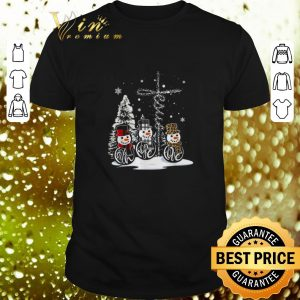 Premium Snowman cross Leopard Plaid Merry Christmas shirt