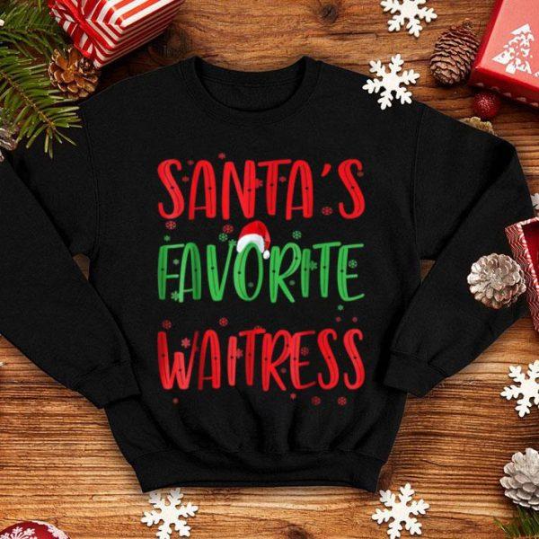 Pretty Christmas Santa's Favorite Waitress Funny Ugly Gift sweater