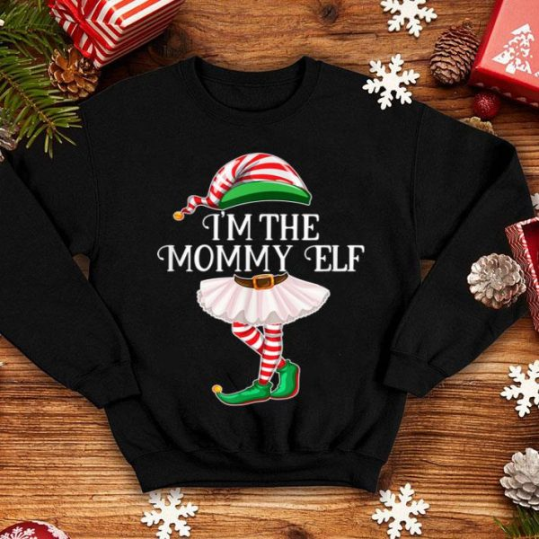Pretty I'm the Mommy Elf Matching Family Pajamas Christmas Gift sweater