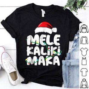 Pretty Mele Kalikimaka Hawaiian Christmas Hat Funny sweater