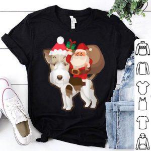 Pretty Santa Riding Fox Terrier Christmas Pajama Gift sweater
