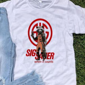 Rocket Raccoon Marvel Sig Sauer When It Counts shirt