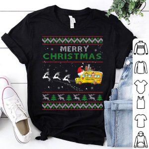 School Bus Driver Merry Christmas Ugly Sweater Shirt Gifts sweater