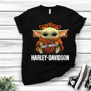 Star Wars Baby Yoda Hug Harley Davidson shirt