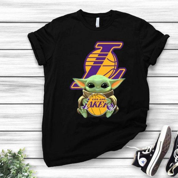 Star Wars Baby Yoda Hug Los Angeles Lakers shirt