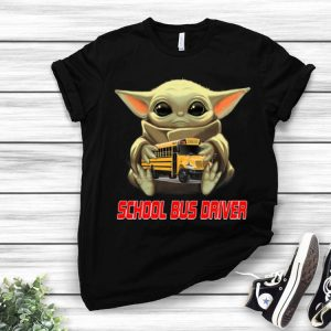 Star Wars Baby Yoda Hug School Bus Driver shirt