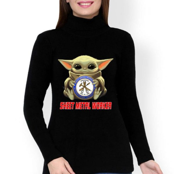 Star Wars Baby Yoda Hug Sheet Metal Worker shirt