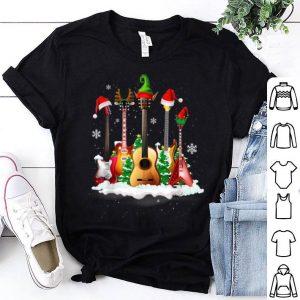 Top Guitar Santa Hat Christmas Tree Funny Music For Guitar Lover sweater