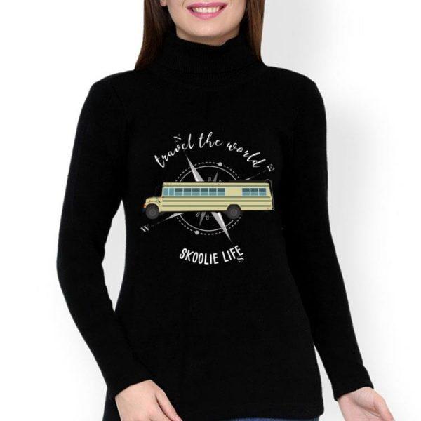 Travel The World Skoolie Life Converted School Bus shirt
