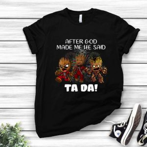 Baby Groots After God Made He Said Ta Da Fireworks shirt