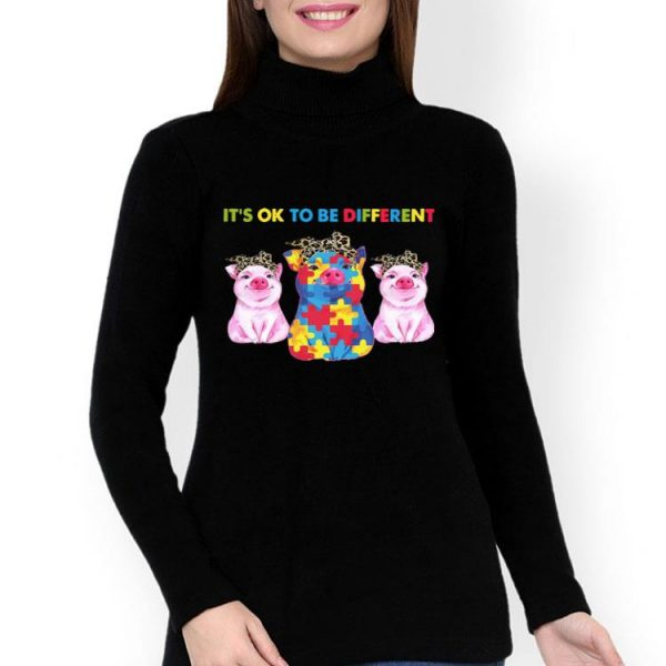 Pigs It's Ok To Be Different Autism shirt