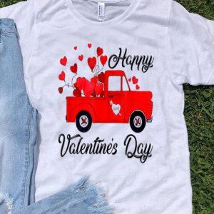 Vintage Red Truck Heart Love Happy Valentine's Day shirt